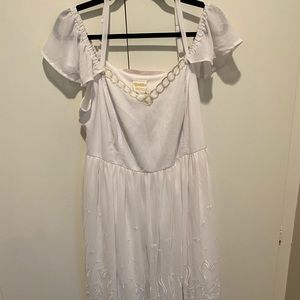 Cold Shoulder, White, Sailor Moon Dress Size 16